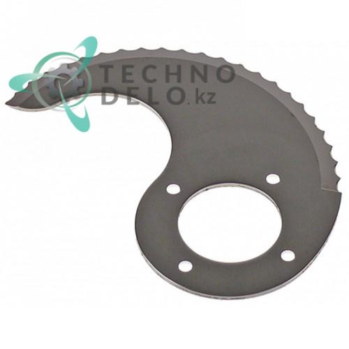 Нож нижний с зубцами MSC04N072Z куттера Sirman C4-C6