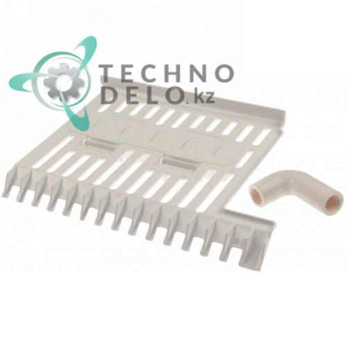 Решётка ледоскат в комплекте 195x270мм 5 дюз C10626 для льдогенератора Brema CB184/HIKU26/IC18
