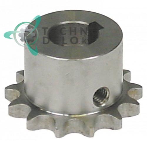 Звездочка цепная DIN/ISO 06 B-1 деление 3/8 ø15мм H-25мм 07NT05 07NT10 для Alimacchine NT05, NT10