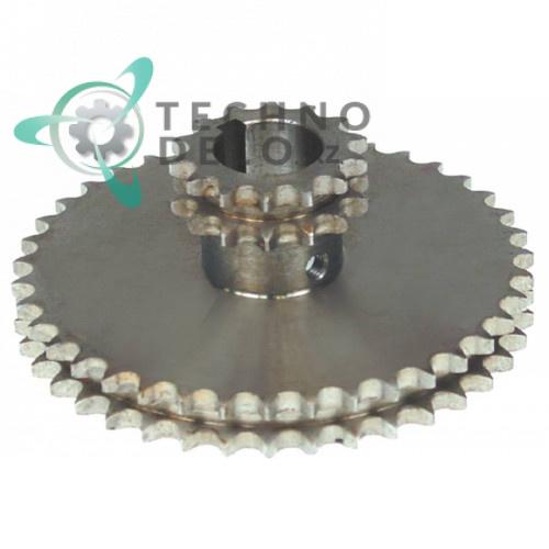 Звездочка цепная DIN/ISO 06 B-2 (зубьев 14/39) код 39NT40, 39NT50, 39NT70 для тестомесов Alimacchine NT40-50-70