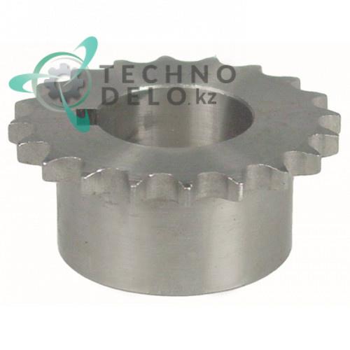 Звездочка цепная DIN/ISO 06 B-1 ø30мм H28мм SL2645 для тестомеса Fimar IM50C и др.