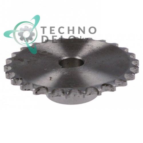 Звездочка цепная DIN/ISO 08 B-1x26T для конвейерной посудомоечной машины Fagor и др.