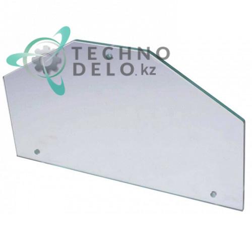 Стекло боковое (3 отверстия) для витрины подогрева