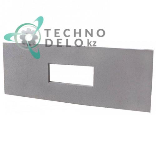 Плита термостойкая (шамотный камень с прямоугольным вырезом) 00005017 для двери печи IME Turbo
