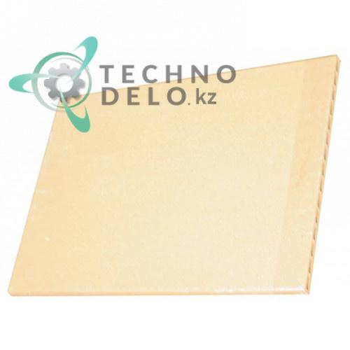 Плита термостойкая (шамотный камень) 600x425x20мм 76002690 для пицца-печи Moretti PC GAS и др.
