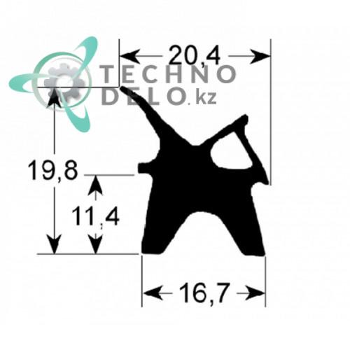 Уплотнитель 710x1430мм профиль 2410 R70042040 пароконвектомата Lainox ME120D, Mareno ME120M и др.