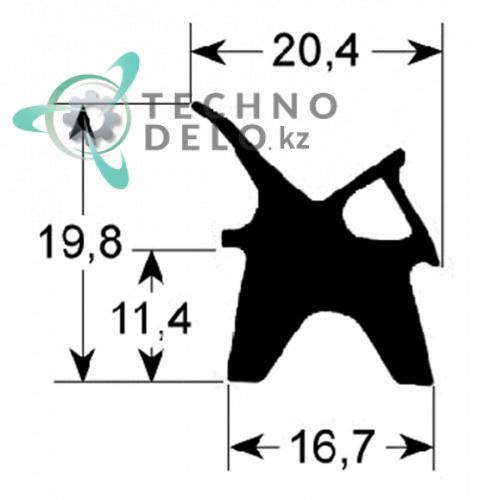 Уплотнитель 413x608мм профиль 2410 LAR70041350 пароконвектомата Lainox ME05, MG05, RE05, RG05 и др.