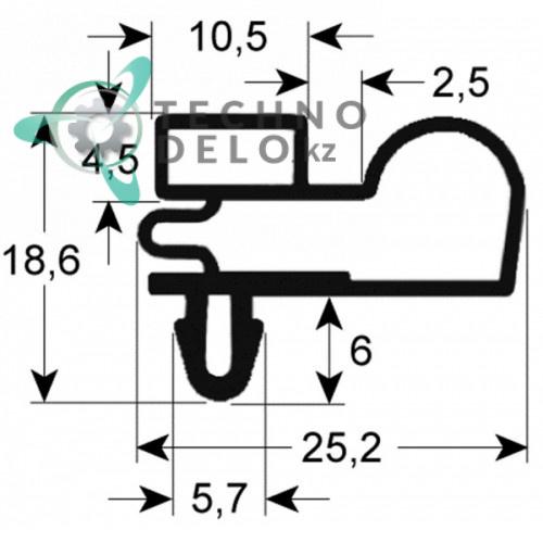 Уплотнитель профиль 9010 665x1570мм 97750001 3186970 TDE072132 для C&D, Iberna, IRF, Desmon IB-7A, Hendi и др.
