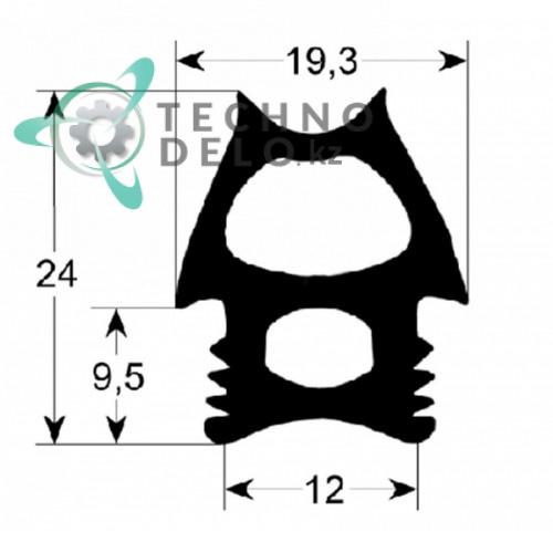 Уплотнитель двери 700x490мм для пароконвектомата Angelo Po FM1011G1 (арт. 6E3020)