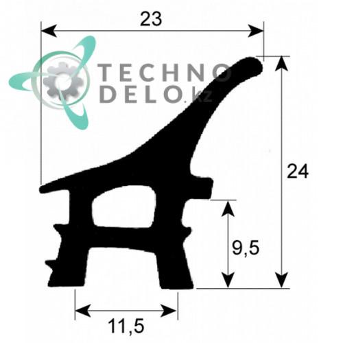 Уплотнитель термостойкий для двери печи (монтаж горизонтальный) MCGPN004 / 600мм Coven