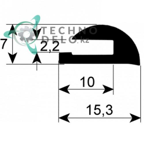 Уплотнитель стекла для печи MCGV0003 Coven