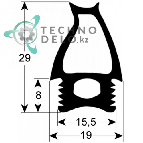 Уплотнитель 2781 686x628мм 3077290 3077291 3077292 печи Angelo Po BX82E, BX82G, FX82, FX82E1, FX82E2 и др.