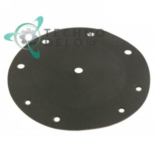 Мембрана (диафрагма DA3010) D-82мм / d-6 мм для дозатора посудомоечной машины Dihr, Kromo, Lamber и др.