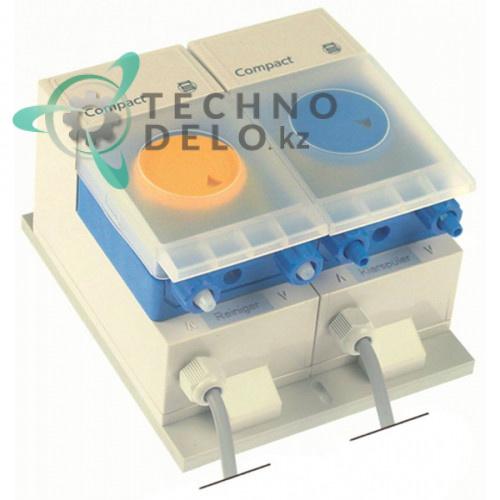 Дозатор насос двойной Saier Compact Duo R 230VAC моющее/ополаскивающее средство