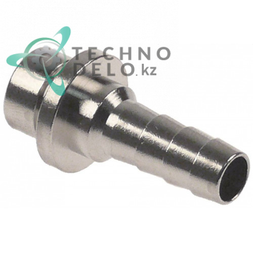 Соединитель шланговый (штуцер) никелированная латунь Einstich 14x8мм d-7/9,5мм тип напитка AFG