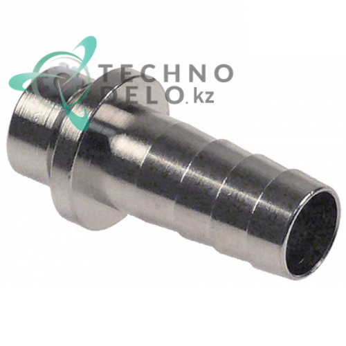 Соединитель шланговый (штуцер) никелированная латунь Einstich 14x8мм d-10/12мм под тип напитка AFG, пиво