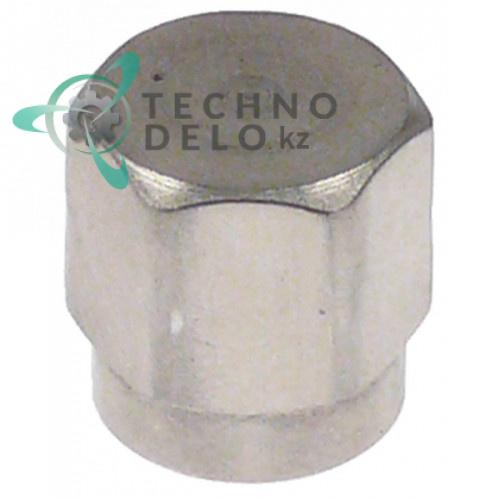 Крышка торцевая резьба UNF  7/16-20 никелированная латунь ключ 14