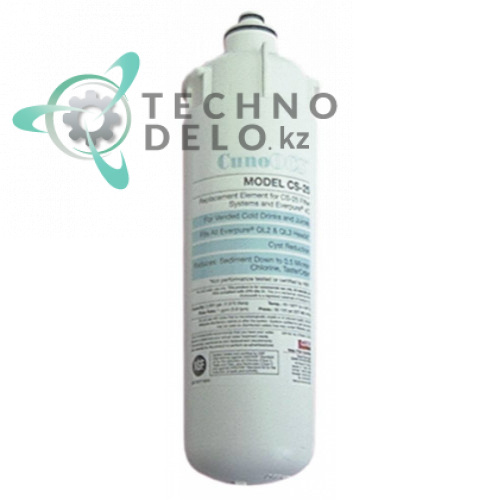 Фильтр водяной CUNO CS-25 228 л/ч 8,6 бар 0,5 мкм под головки QL2/QL3 D-86мм H-286мм для холодильной камеры и др.