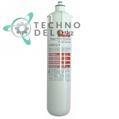 Фильтр водяной CUNO CFS-9812-X 342 л/ч 8,6 бар 0,5 мкм под головки QL2/QL3 D-86мм H-367мм для холодильной камеры и др.