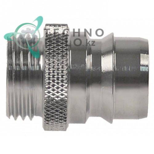 Фитинг соединительный (коннектор) 1/2″ резьба тип DN19 хромированная латунь для моющего пистолета