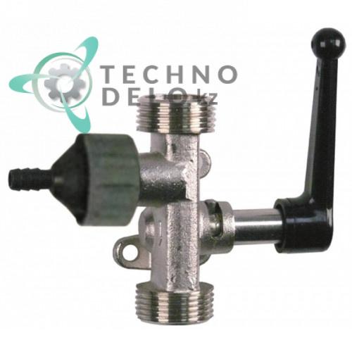 Кран дозатор моющего средства с резьбой 1/2 для одного типа жидкости