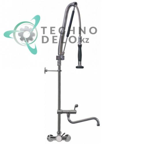 Душ ручной GEV PREMIUM PLUS AUTOMATIC Standard для мойки посуды 1/2 поворотный излив с настенным краном-смесителем