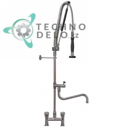 Душ ручной для мойки GEV PREMIUM PLUS AUTOMATIC Standard газовая пружина двухчастный кран-смеситель 3/4-1/2 с изливом