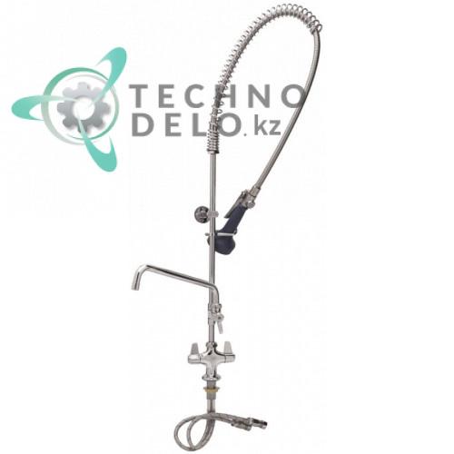 Душ ручной для мойки посуды T&S одноблочный кран-смеситель с изливом 12,41 л/мин высота 1025мм подключение 1/2