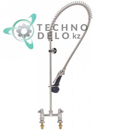 Душ ручной для мойки посуды T&S кран-смеситель с двумя вентилями 12,41 л/мин высота 1063мм подключение 1/2