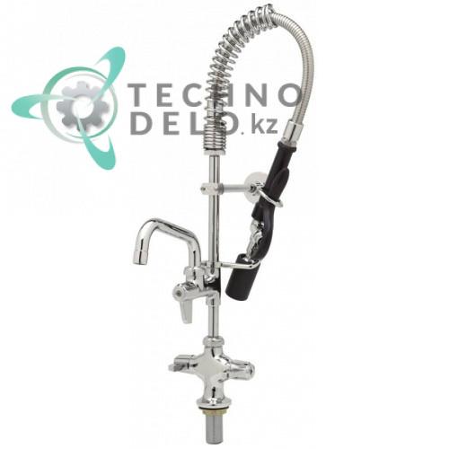 Душ ручной для мойки посуды T&S Mini кран-смеситель с поворотным изливом 2,46 л/мин высота 615мм подключение 1/2