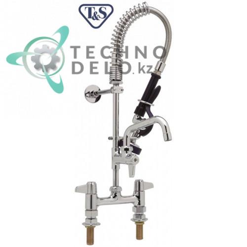 Душ ручной T&S Mini EMPV-6DLN-06 для мойки посуды 1/2 15,9л/мин с двухчастным краном-смесителем общая высота 622мм