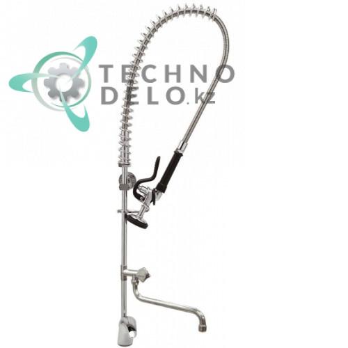 Душ ручной T&S для мойки посуды с одноблочным однорычажным краном-смесителем и поворотным изливом H-994мм