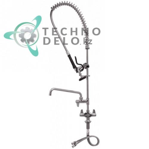 Душ ручной T&S для мойки посуды 1/2 с одноблочным краном-смесителем и поворотным изливом общая высота 980мм