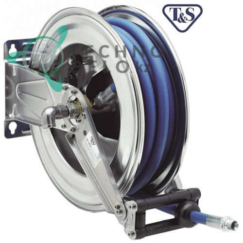 """Катушка моющего шланга T&S ESA Hose Reels L-25м 1/2"""" DN12мм CNS для настенного монтажа"""