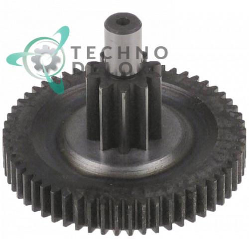 Двойная шестерня 65116100 ø62/20мм 56/10 зубьев для редуктора льдогенератора Electrolux, Icematic, Scotsman и др.